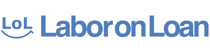labor on loan logo blue